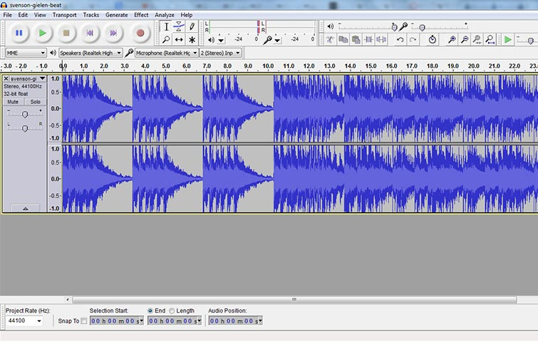 Audacity audio editing and mixing software