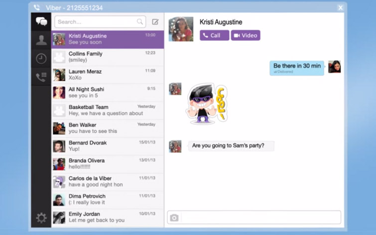 Viber desktop app for Windows & Mac for conversations with Viber users