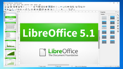 LibreOffice Impress creating a slideshow presentation